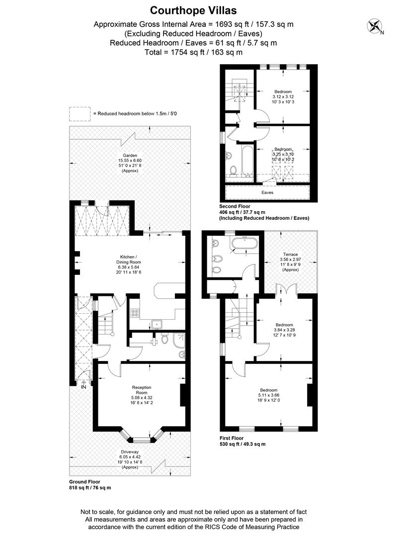 Floorplan for Courthope Villas, London